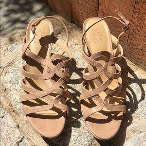 Naturalizer Tan Strappy Cameron Platform Sandal
